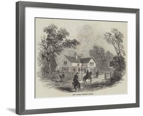 New Lodge, Osborne House--Framed Art Print