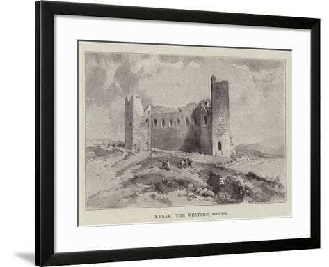 Kerak, the Western Tower--Framed Art Print