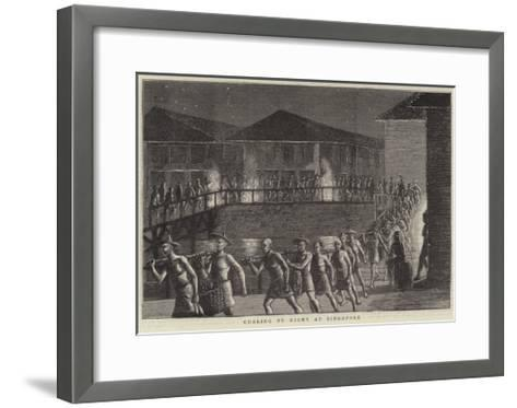 Notes on Board a Troopship--Framed Art Print