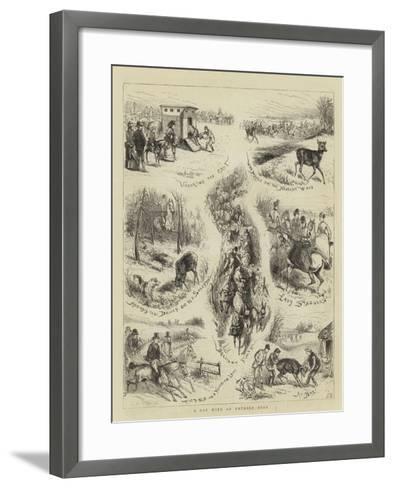 A Day with an Untried Deer--Framed Art Print