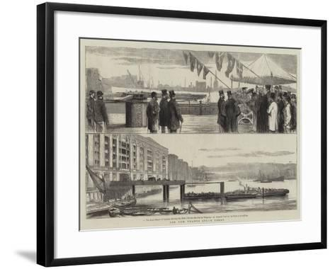 The New Thames Steam Ferry--Framed Art Print