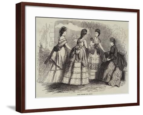 Paris Fashions for August--Framed Art Print