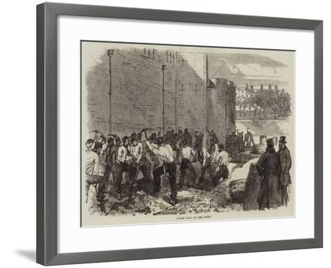 Spade Drill at the Tower--Framed Art Print
