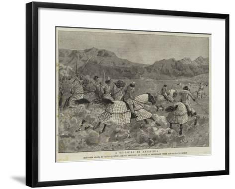 A Skirmish in Abyssinia--Framed Art Print