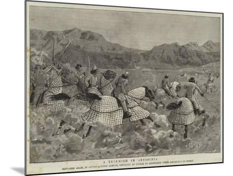 A Skirmish in Abyssinia--Mounted Giclee Print
