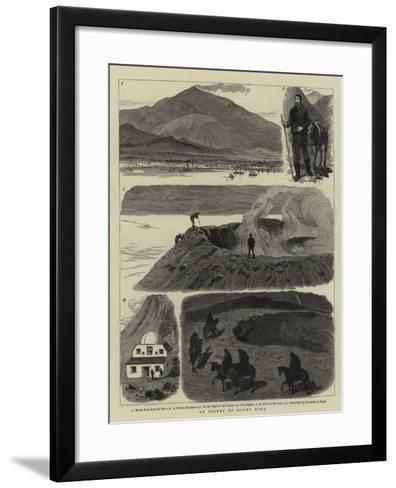 An Ascent of Mount Etna--Framed Art Print