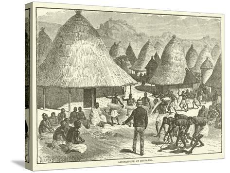 Livingstone at Shupanga--Stretched Canvas Print