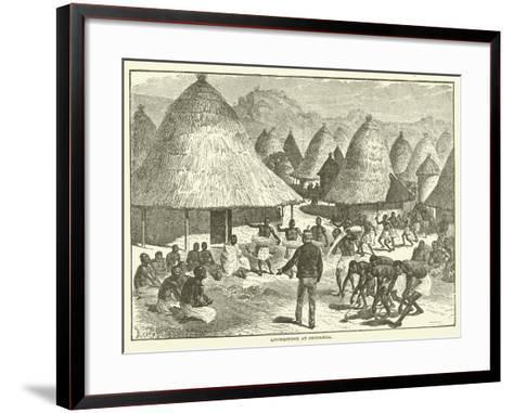 Livingstone at Shupanga--Framed Art Print