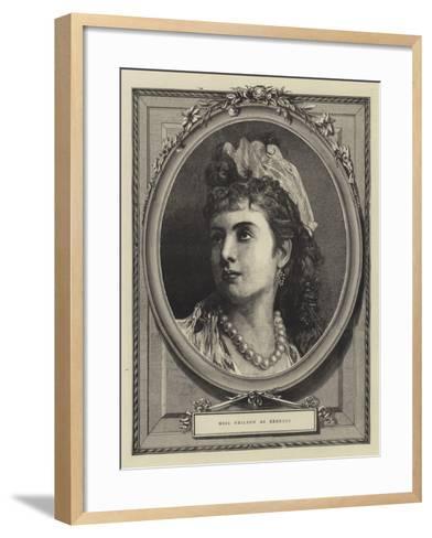 Miss Neilson as Rebecca--Framed Art Print