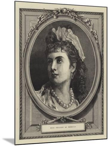 Miss Neilson as Rebecca--Mounted Giclee Print