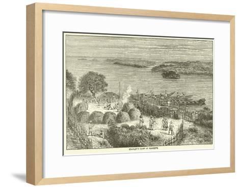 Stanley's Camp at Kagehyi--Framed Art Print