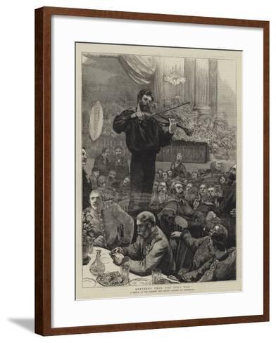 Returned from the Zulu War--Framed Art Print