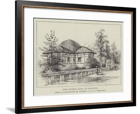 The Durbar Hall at Manipur--Framed Art Print