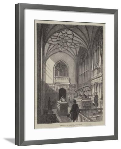 Beauchamp Chapel, Warwick--Framed Art Print