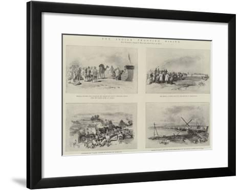 The Indian Frontier Rising--Framed Art Print