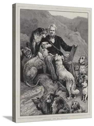 Landseer and His Friends--Stretched Canvas Print