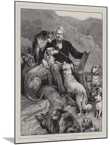 Landseer and His Friends--Mounted Giclee Print