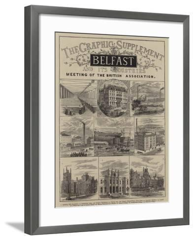 Belfast and its Industries--Framed Art Print