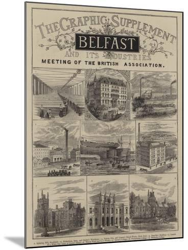 Belfast and its Industries--Mounted Giclee Print