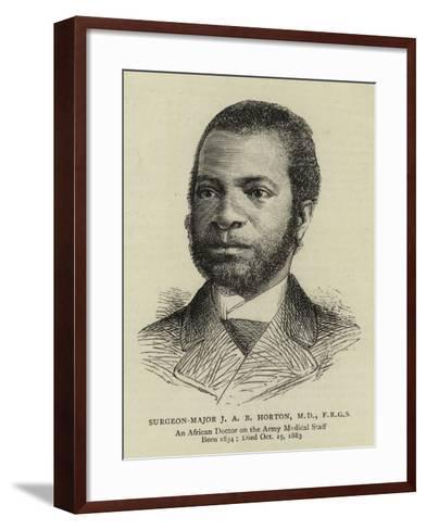 Surgeon-Major J A B Horton--Framed Art Print