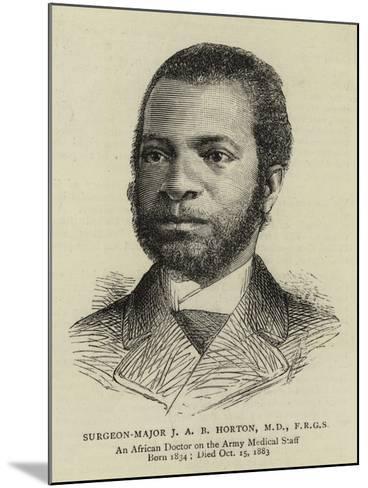 Surgeon-Major J A B Horton--Mounted Giclee Print