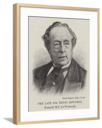 The Late Sir Henry Edwards--Framed Art Print