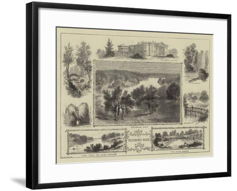 Roundhay Park Near Leeds--Framed Art Print
