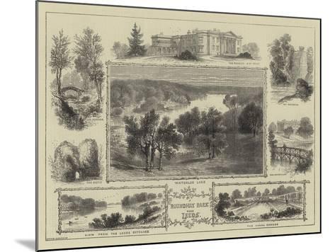 Roundhay Park Near Leeds--Mounted Giclee Print