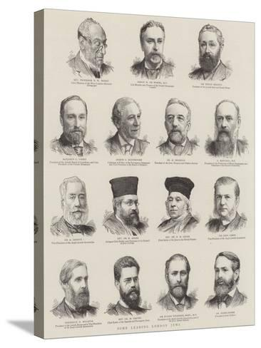 Some Leading London Jews--Stretched Canvas Print