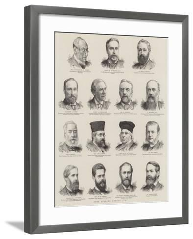 Some Leading London Jews--Framed Art Print