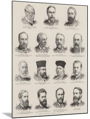 Some Leading London Jews--Mounted Giclee Print