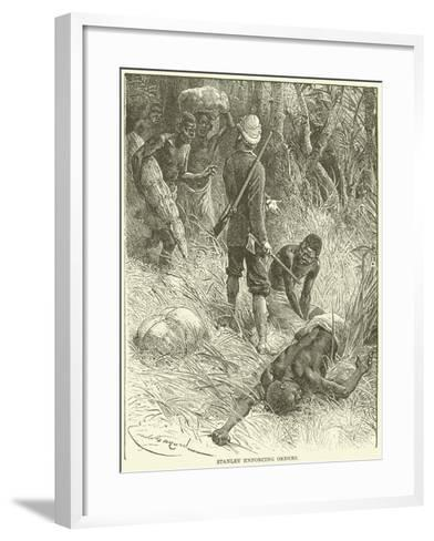 Stanley Enforcing Orders--Framed Art Print