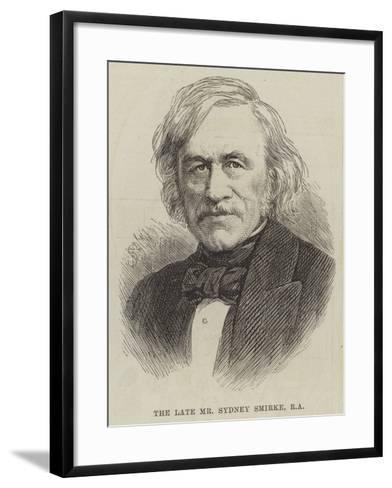 The Late Mr Sydney Smirke--Framed Art Print