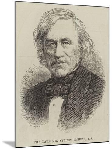 The Late Mr Sydney Smirke--Mounted Giclee Print