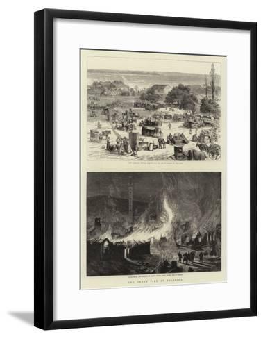 The Great Fire at Salonica--Framed Art Print