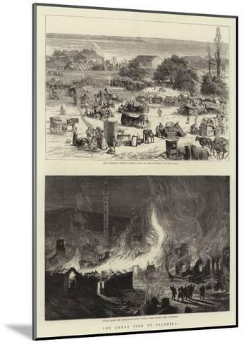 The Great Fire at Salonica--Mounted Giclee Print