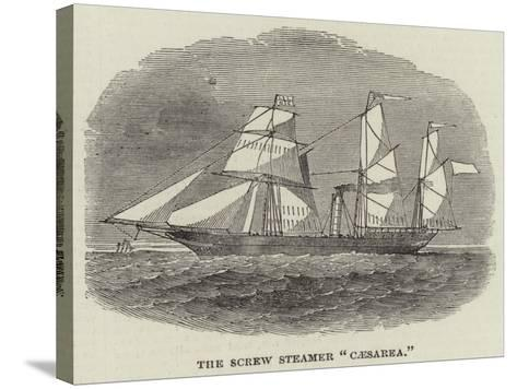 The Screw Steamer Caesarea--Stretched Canvas Print