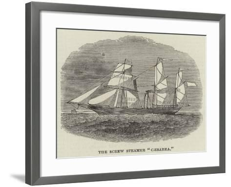 The Screw Steamer Caesarea--Framed Art Print