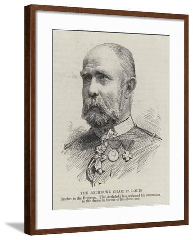 The Archduke Charles Louis--Framed Art Print