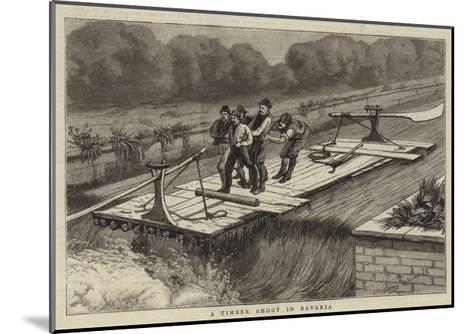 A Timber Shoot at Bavaria--Mounted Giclee Print