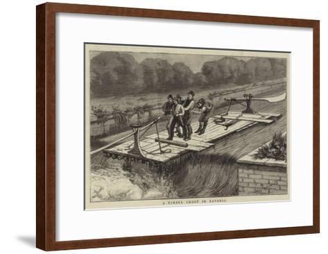 A Timber Shoot at Bavaria--Framed Art Print