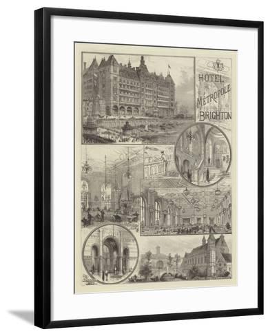 Hotel Metropole, Brighton--Framed Art Print