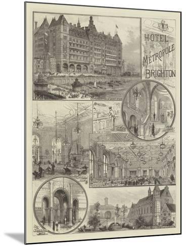 Hotel Metropole, Brighton--Mounted Giclee Print