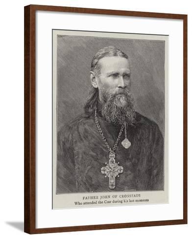 Father John of Cronstadt--Framed Art Print