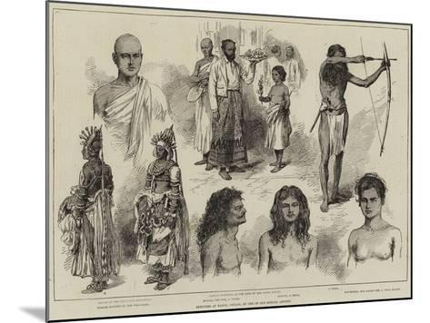 Sketches at Kandy, Ceylon--Mounted Giclee Print