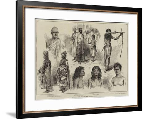 Sketches at Kandy, Ceylon--Framed Art Print