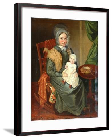 Sarah Barrett with a Child--Framed Art Print