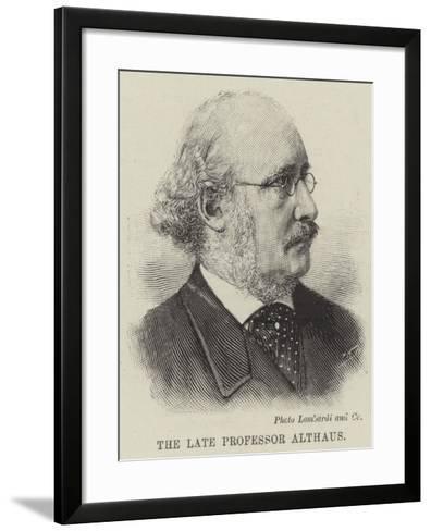 The Late Professor Althaus--Framed Art Print