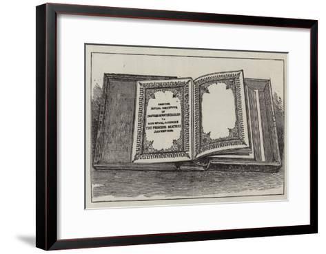 The Royal Wedding Presents--Framed Art Print