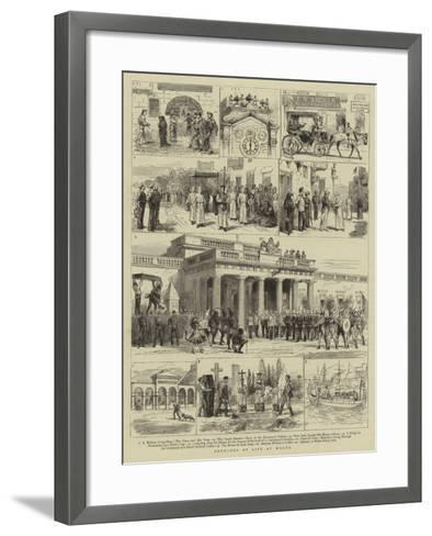 Sketches of Life at Malta--Framed Art Print